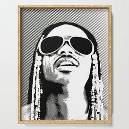 Digital Sketch Art Poster / Canvas Print Celebrity Inspired - Stevie Wonder Serving Tray