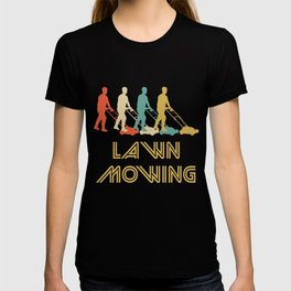 Push Mower Retro Pop Art Lawn Mowing T-shirt