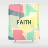 faith Shower Curtains featuring FAITH by Creative Brainiacs