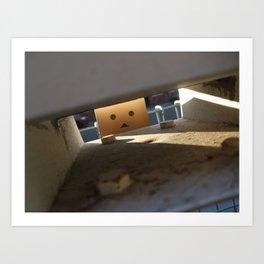 Danbo Through the Letterbox Art Print