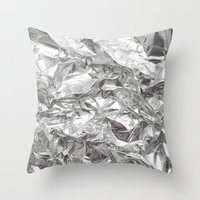 silver Throw Pillows featuring Silver by Roscoe