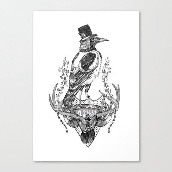Mr. Magpie Canvas Print
