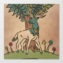 The Guardian Stag Canvas Print