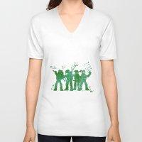 teenage mutant ninja turtles V-neck T-shirts featuring Teenage Mutant Ninja Turtles by Carma Zoe