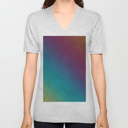Bohek Bubbles on Rainbow of Color - Ombre multi Colored Spheres Unisex V-Neck