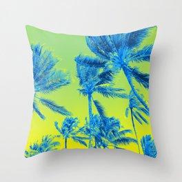 Electric Palms Throw Pillow