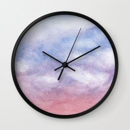 Sunset Clouds Watercolor Wall Clock