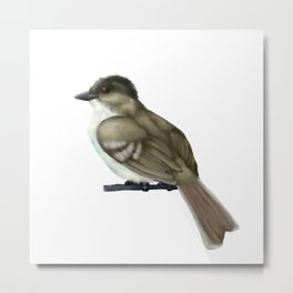 Crested Flycatcher Metal Print