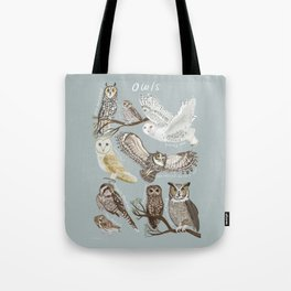 Owls Illustrated Chart Tote Bag