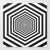 hexagon Canvas Prints featuring Hexagon by Vadeco