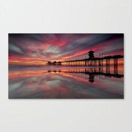 Huntington Beach Sunset  ~ 1/15 Canvas Print