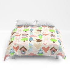 Bunny fun land Comforters
