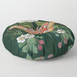 Atlas Moth Magnolia Floor Pillow