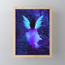 Neon fairy Framed Mini Art Print