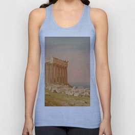 Ruins of the Parthenon Oil Painting by Sanford Robinson Gifford Unisex Tank Top