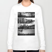 cityscape Long Sleeve T-shirts featuring CITYSCAPE by Grafikki Shop