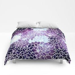 Space Dahlias Purple Ice Comforters