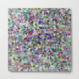 Happy triangle pattern Metal Print