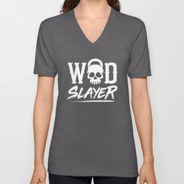 WOD Slay er Skull Unisex V-Neck