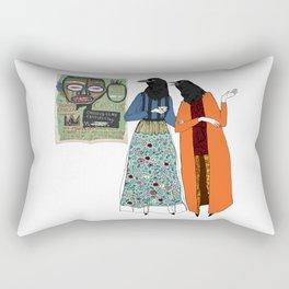 Talk about art Rectangular Pillow