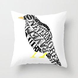 The Raven - Edgar Allan Poe Throw Pillow