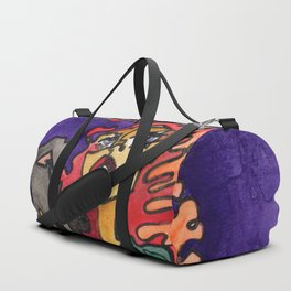 Cat and Her Witch Duffle Bag