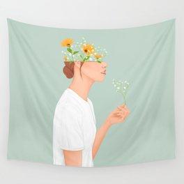 Flower Head Wall Tapestry