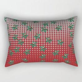 Buckeyes 'n' leaves on scarlet 'n' gray. Rectangular Pillow
