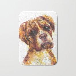 Dog Abstract watercolour prints Bath Mat