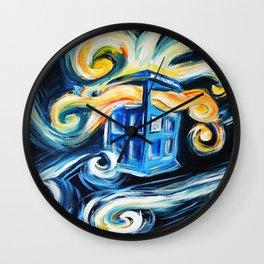 Exploding Tardis Wall Clock