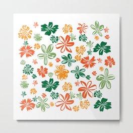flowers-4colors-1-small Metal Print