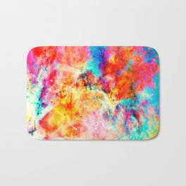 Colorful Abstract Nebula Bath Mat