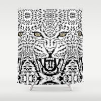 leopard Shower Curtains featuring Leopard by BUBUBABA