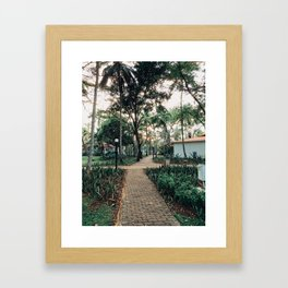 Pathway to Paradise Framed Art Print