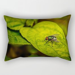 Fly in the green Rectangular Pillow