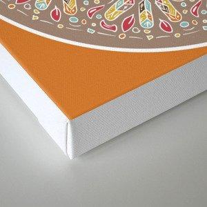 Mandala Boho Style Canvas Print