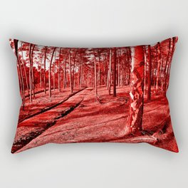 Red Forest Sound Rectangular Pillow