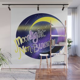 Non-Binary Moonlight Pride Wall Mural