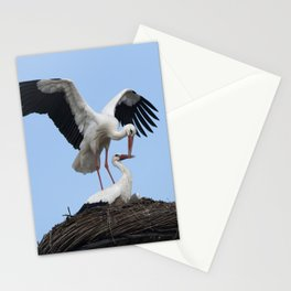 White Stork Nest Stationery Cards