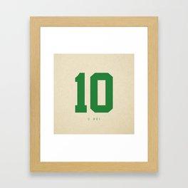 10 O Rei Framed Art Print