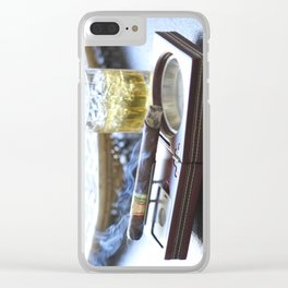 Cigar Time Clear iPhone Case