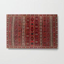 Baluch Flatweave  Antique Afghanistan  Rug Metal Print
