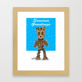 Season's Grootings Framed Art Print