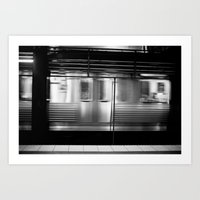 subway Art Prints featuring Subway by Kameron Elisabeth