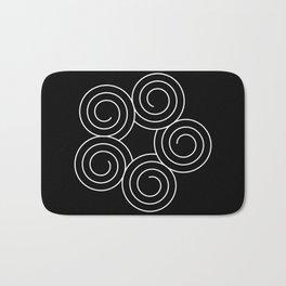 Invert spirals Bath Mat