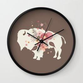 Floral Buffalo Wall Clock