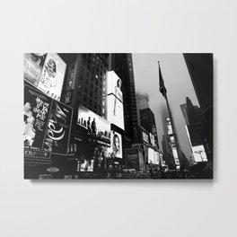 Times Square Black Print Metal Print