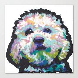 maltese poodle Maltipoo Dog Portrait Pop Art painting by Lea Canvas Print