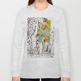 Mother and Child Cheetah Long Sleeve T-shirt