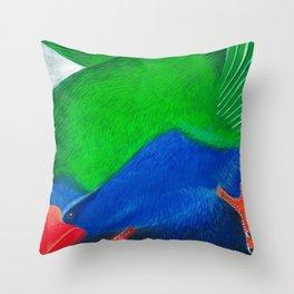 Takahe Throw Pillow